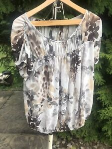 Christopher & Banks Womens Large  Button Blouse