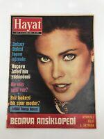 HAYAT #43 - Turkish Magazine - 1980s - CAROL ALT COVER - Ultra Rare