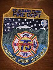 Saint Albans Vermont Fire Department Patch