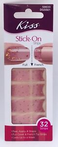 Kiss Nail Dress Stick On Nail Dress Full or French 32 Strips in Each Your Choice