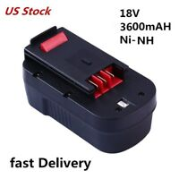 HPB18 for Black and Decker 18v Battery 3600mAh HPB18-OPE FSB18 FEB180S A18 A1718