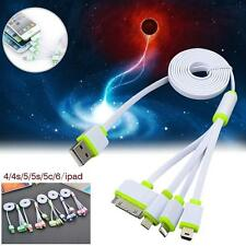 4in1 USB Charger Charging Cable Cord Flat For iPhone Samsung HTC LG MOTO 1M LM