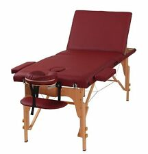The Best Massage Table 3 Fold Burgundy Reiki Portable Massage Table
