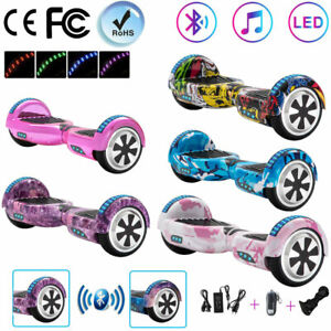"""Bluetooth Hoverboard 6.5"""" Electric Scooters 2 Wheels Balance Skateboard For Kids"""