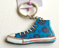 NEW Blue flower trainer keyring summer sneakers