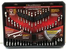 GearWrench 32 pc SAE Metric Ratcheting Combination Wrench Set Stubby 39327