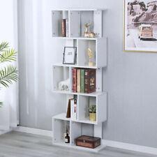 White Kids Bookshelf Bookcase Shelving Corner Shelf Unit Cube Storage Display uk