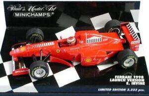 MINICHAMPS various Eddie Irvine F1 FERRARI model cars 1996 1997 1998 1:43 scale