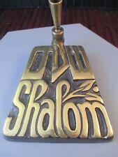 Vintage Brass Shalom Pen Holder Desk Decor Hotel Registration Wedding Album