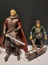 4 LOTR Lord of the Rings  Theoden, Aragon, Eomer, & Pippin and Accessories