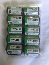 10x Fuji Superia 400 Pellicola 36exp-OTTIMO a tutto tondo 400 velocità Film
