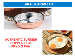 ✅ AUTHENTIC Turkish Copper Egg *Frying Pan* - Used on GAS or ELECTRIC Hob ✅