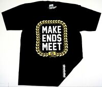 STREETWISE END$ MEET Gold T-shirt Urban Streetwear Tee Adult L-4XL Black NWT Men