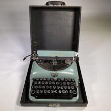 vintage REMINGTON RAND typewriter manual portable RARE with box working