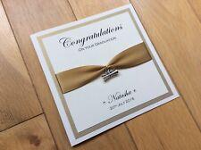 Personalised Graduation Card Handmade Luxury