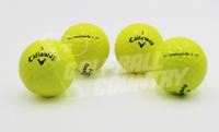 24 Callaway Hex Chrome/Chrome + Yellow AAA (3A) Used Golf Balls