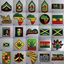 Rasta Iron On / Sew On Cloth Patch Badge Appliqué Hot Fix Jah Reggae Dub Jamaica
