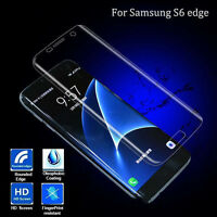 For Samsung Galaxy S6 Screen Protector Film Full Cover Clear Anti-Fingerprint US