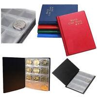Bestseller! 120 Münzen Medaillon Abzeichen Sammlung Hartgeld Album aus PU Leder