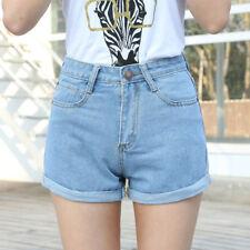 Fahsion Womens Ladies Summer Crimping Denim High Waisted Shorts Jeans Hotpants