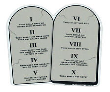 Magnetic Bumper Sticker - 10 Commandments on Stone Tablets - Religious Magnet