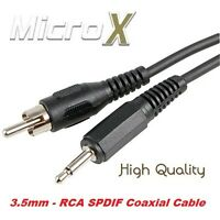 1.2m 3.5mm to RCA Coaxial SPDIF cable MXQ Android TV BOX soundcard interconnect