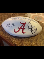 Dabo Swinney and Nick Saban Signed Alabama Crimson Tide Football