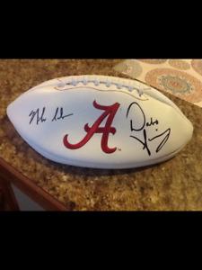 Dabo Swinney and Nick Saban Signed Alabama Crimson Tide Football