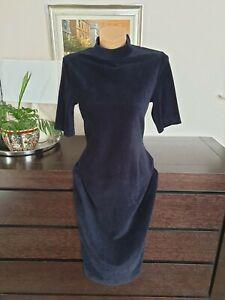 Whistles Navy Midi Dress Size S