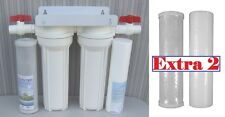 "10"" Whole House 2 stage filtration water system 1/2"" port + extra 2 Pc filters"