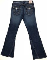 True Religion Joey Womens Jeans Boot Cut Flare Dark Sz 29x33 Twisted Seam 10-503