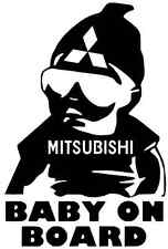 BABY ON BOARD DECAL Car Truck Vinyl Decal Sticker MITSUBISHI OUTLANDER LANCER
