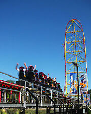 Top Thrill Dragster Cedar Point Roller Coaster 8x10 High Quality Photo Picture