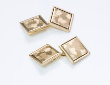 Gold Square Cufflinks Vintage Cartier 14K Yellow