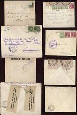 LUXEMBOURG WW1 COVERS x4,SWISS+BELGIUM +AUSTRIA CENSORS
