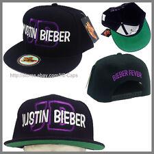 JUSTIN BIEBER SNAPBACK CAP HAT ***PURPLE JB*** BIEBER FEVER I LOVE JUSTIN BIEBER