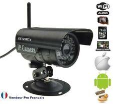 Caméra réseau IP Extérieur vidéosurveillance Extérieur résiste à l'eau coul:Noir