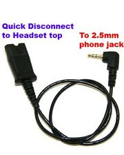 """Plantronics QD to 2.5mm Adapter 39"""" Cable for SpectraLink Linksys & Polycom 320"""