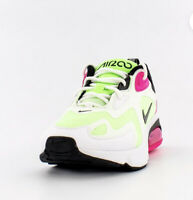 Woman Nike Air Max 200 Running/Athletic Shoes White/Black-Pink CJ0629-100