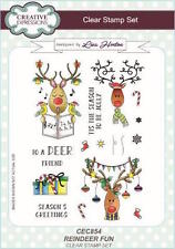 Creative Expressions clear stamp set - Reindeer Fun *NEW 2017*