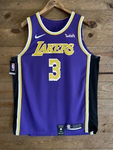 "Anthony Davis Authentic Nike Statement Edition Lakers Jersey NWT w/ ""WISH"" Patch"