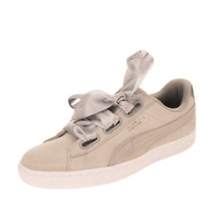 PUMA Suede Leather Sneakers Size 40 UK 6.5 US 9 Metallic Effect Trim Low Top