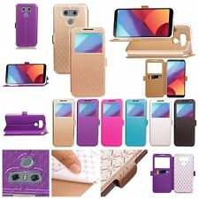 Luxury PU Leather Flip Wallet Window View Case Stand Cover for SAMSUNG/LG/APPLE