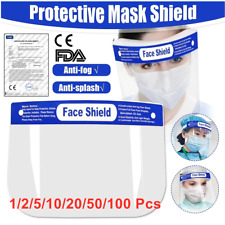 Full Protective Face Shield Clear Plastic Full-Cover Anti-Fog Eye Mask Protector
