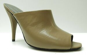 Nine West Brown Leather Stiletto Heel Mules Career Dress Pumps 8.5 NEW