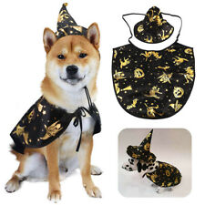 More details for dog cat halloween costume pet cape witch hat cloak party ffestival funny dress