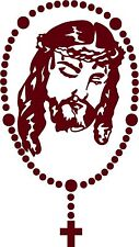 Jesus Christ Rosary Beads Cross Lord Car Truck Window Laptop Vinyl Decal Sticker