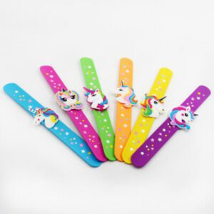 Unicorn Slap Bands/Snap Band Bracelet Silicone Wristband Girls Party Bag Fillers