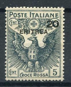 Eritrea 1916 Sass. 43 Senza gomma 100% Croce rossa, colonie italiane