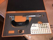 Mitutoyo Thread Screw Micrometer No 126 138 1 2 001 8 Anvils